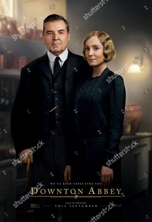 Stock Photo of Downton Abbey (2019) Poster Art. Brendan Coyle as Mr. Bates and Joanne Froggatt as Anna Bates