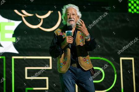 Stock Picture of David Suzuki speaks during WE Day Toronto at the Scotiabank Arena, in Toronto