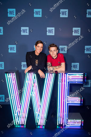 Stock Picture of Sarah McLachlan, Scott Helman. Singer/songwriters Sarah McLachlan, left, and Scott Helman pose during WE Day Toronto at the Scotiabank Arena, in Toronto