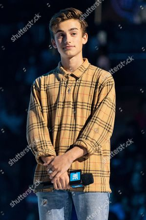 Johnny Orlando attends WE Day Toronto at the Scotiabank Arena, in Toronto