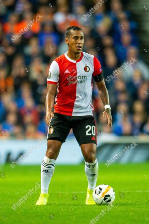 Renato Tapia (#20) of Feyenoord Rotterdam during the Europa League match between Rangers FC and Feyenoord Rotterdam at Ibrox Stadium, Glasgow