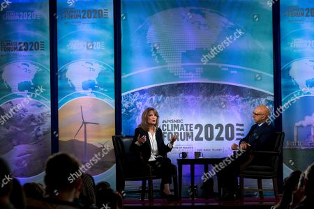 Democratic presidential candidate author Marianne Williamson speaks during the Climate Forum at Georgetown University, in Washington