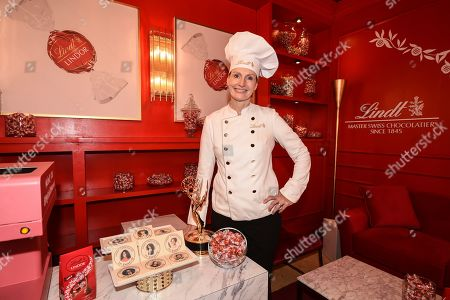 Lindt Master Chocolatier Ann Czaja at the Lindt Chocolate Lounge at Fox's 2019 Pre-Emmy Press Event on in Los Angeles, Calif