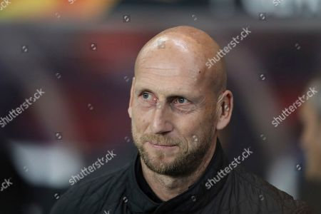 XEUROPALEAGUEX. Feyenoord's manager Jaap Stam looks on ahead of the Europa League group G soccer match between Rangers and Feyenoord at Ibrox, Glasgow, Scotland