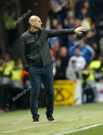 Head cocha Jaap Stam coach of Feyenoord during the UEFA Europa League match Rangers v Feyenoord Rotterdam, in Glasgow, Britain, 19 September 2019.