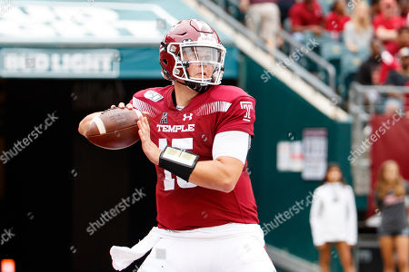 Temple quarterback Anthony Russo (15) in action during the first half of an NCAA college football against Maryland, in Philadelphia. Temple won 20-17