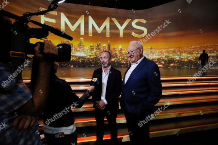 Ian Stewart, Don Mischer. Executive producers Ian Stewart, left, and Don Mischer are interviewed ahead of the st Emmy telecast during FOX's 2019 Pre-Emmy Press Event at Microsoft Theater on Thursday, Sept. 19, 2019, in Los Angeles, CA
