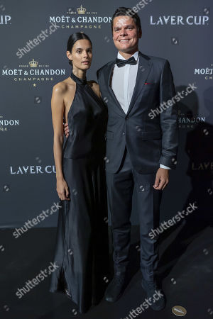 Team world's Milos Raonic (R), poses  on the red carpet at Gala night, during the Laver Cup in Geneva, Switzerland, 19 September 2019. The competition will pit a team of the best six European players against the top six from the rest of the world. The Laver Cup edition is scheduled for Sept. 20-22 at the Palexpo in Geneva. The Laver Cup is named after the Australian tennis legend Rod Laver.