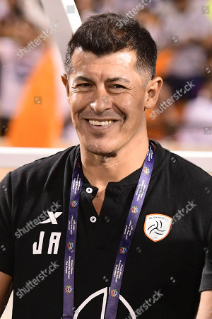 Al Shabab head coach Jorge Al Miron during the Saudi Professional League soccer match between Damac and Al Shabab at Prince Sultan Bin Abdulaziz Sports City Stadium , Khamis Mushait , Saudi Arabia, 19 September 2019.