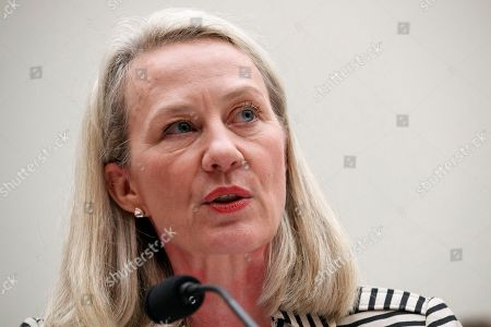Stock Picture of Alice Wells, acting Assistant Secretary of South and Central Asian Affairs and former U.S. Ambassador to Jordan, testifies during a House Foreign Affairs Committee hearing on administration policy in Afghanistan, on Capitol Hill in Washington