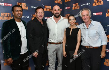 Stock Picture of Jomon Thomas, Jason Isaacs, Anthony Maras, Nazanin Boniadi and John Collee