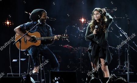 """Toni Cornell, Ziggy Marley. Toni Cornell, right, daughter of the late singer Chris Cornell, performing with Ziggy Marley during """"I Am The Highway: A Tribute to Chris Cornell"""" in Inglewood, Calif. A ballad that Chris Cornell produced for his daughter Toni when she was just 12 is now being released. """"Far Away Places"""" was written by Toni three years ago and was one of the last songs Cornell recorded before his death in May 2017"""