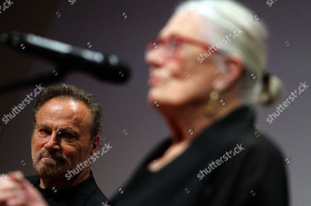 Stock Photo of Franco Nero listens to his wife, Oscar winning English actress Vanessa Redgrave speaking after she received the Ambassador of The European Cinema Award at the 16th CineFest Miskolc International Film Festival in Miskolc, Hungary, 19 September 2019.