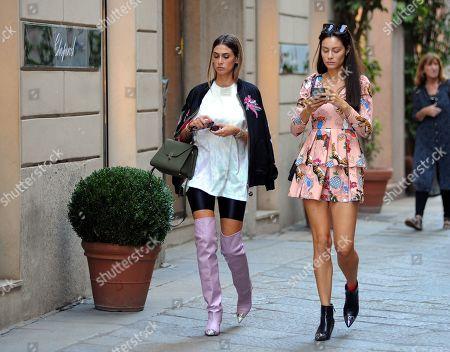 Melissa Satta and Marica Pellegrinelli