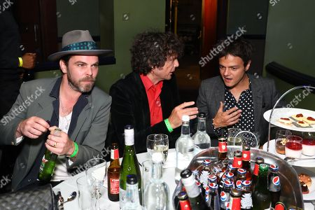 Judges Gaz Coombes and Jamie Cullen at their table
