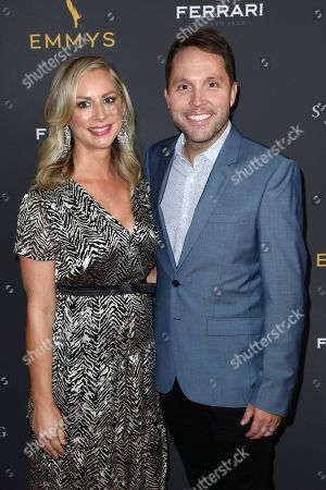 Stock Image of Rob Crabbe, Sarah Crabbe. Rob Crabbe, right, and Sarah Crabbe attend the 2019 Producers Nominee Reception, in West Hollywood, Calif