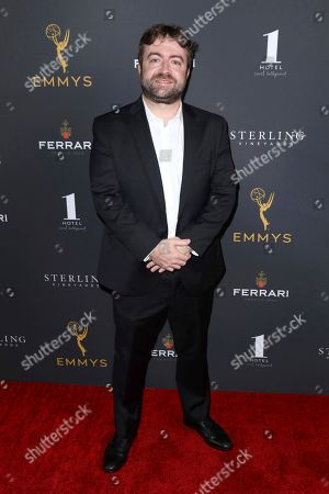 Derek Waters attends the 2019 Producers Nominee Reception, in West Hollywood, Calif