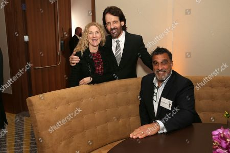 Stock Image of Rachel Craig, David Craig, Douglas Deluca. Rachel Craig, from left, David Craig, and Douglas Deluca attend the 2019 Producers Nominee Reception, in West Hollywood, Calif