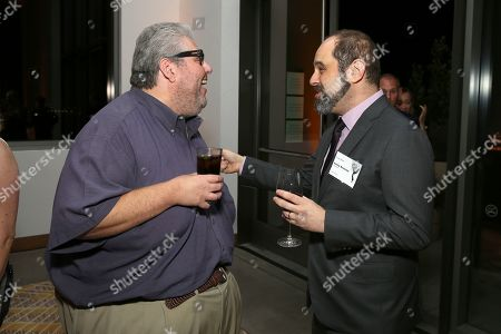David Mandel, Craig Mazin. David Mandel, left, and Craig Mazin attend the 2019 Producers Nominee Reception, in West Hollywood, Calif