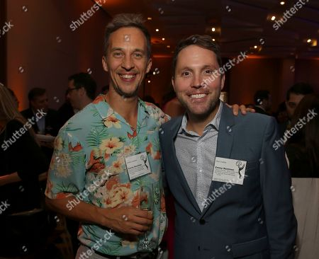 James Longman, Rob Crabbe. James Longman, left, and Rob Crabbe attend the 2019 Producers Nominee Reception, in West Hollywood, Calif