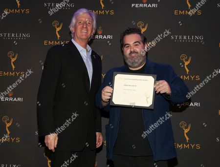 John Ziffren, Berry Welsh. Television Academy Producers Peer Group Governor John Ziffren, left, with Emmy Nominee Berry Welsh at the 2019 Producers Nominee Reception, in West Hollywood, Calif