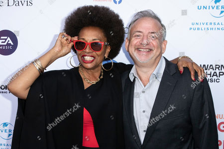 Marc Shaiman (R) and US actress Jenifer Lewis (L) arrive for the City of Hope's 15th Annual Songs of Hope in Sherman Oaks, California, USA, 19 September 2019. Songs of Hope is an evening that honors songwriters and composers, featuring live music and a silent auction.