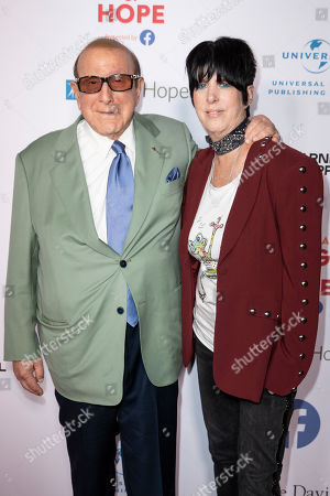 Clive Davis (L) and US songwriter Diane Warren (R) arrive for the City of Hope's 15th Annual Songs of Hope in Sherman Oaks, California, USA, 19 September 2019. Songs of Hope is an evening that honors songwriters and composers, featuring live music and a silent auction.