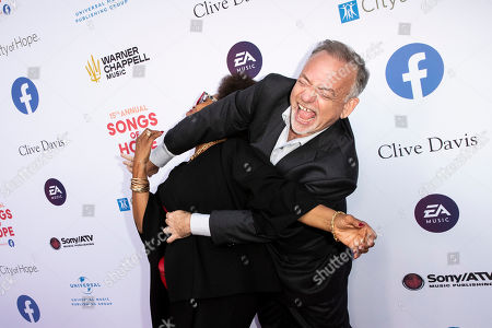 Marc Shaiman (R) and US actress Jenifer Lewis (L) interact as they arrive for the City of Hope's 15th Annual Songs of Hope in Sherman Oaks, California, USA, 19 September 2019. Songs of Hope is an evening that honors songwriters and composers, featuring live music and a silent auction.