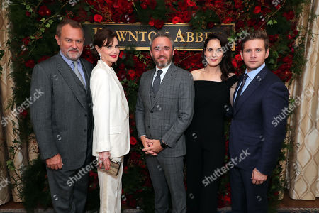 Hugh Bonneville, Elizabeth McGovern, Michael Howells - British Consul General in Los Angeles, Michelle Dockery and Allen Leech