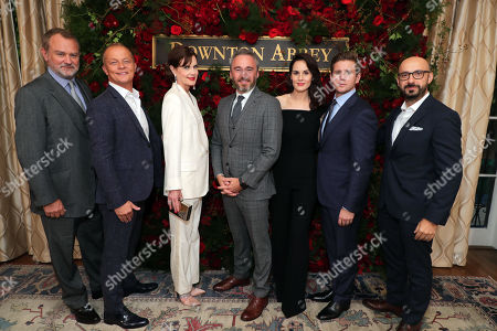 Hugh Bonneville, Kevin MacLellan - Chairman, Global Distribution and International, NBCUniversal, Elizabeth McGovern, Michael Howells - British Consul General in Los Angeles, Michelle Dockery, Allen Leech and Peter Kujawski - Chairman Focus Features