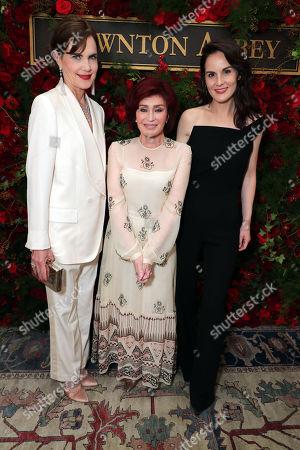 Stock Image of Elizabeth McGovern, Sharon Osbourne and Michelle Dockery