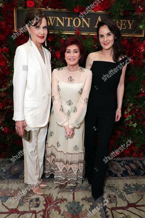 Elizabeth McGovern, Sharon Osbourne and Michelle Dockery