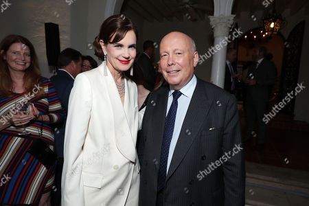 Stock Photo of Elizabeth McGovern and Writer/Producer Julian Fellowes