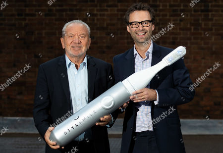 Lord Alan Sugar and Apprentice Winner Inventor Tom Pellereau, launch STYLSMILE Lighten Up - a Light Accelerated Tooth Whitening Experience in Leicester Square