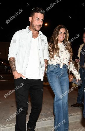 Stock Picture of Jax Taylor, Brittany Cartwright. Jax Taylor, left, and Brittany Cartwright seen at A Ride Through the Ages: Wrangler Capsule Collection Launch at Fred Segal, in West Hollywood, Calif