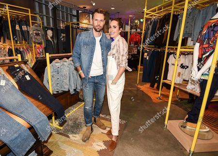 Louise Roe, Mackenzie Hunkin. Louise Roe, right, and Mackenzie Hunkin seen at A Ride Through the Ages: Wrangler Capsule Collection Launch at Fred Segal, in West Hollywood, Calif