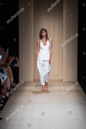 Stock Image of Sara Cavazza Facchini on the catwalk