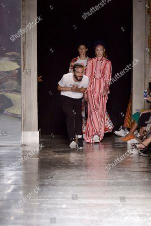 Tiziano Guardini on the catwalk