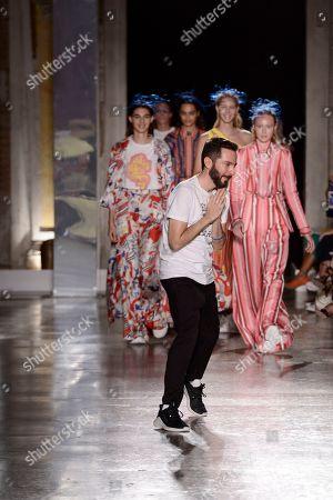 Stock Picture of Tiziano Guardini on the catwalk