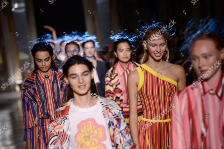 Editorial picture of Tiziano Guardini show, Runway, Spring Summer 2020, Milan Fashion Week, Italy - 18 Sep 2019