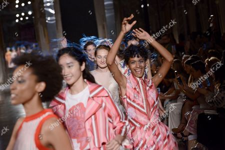 Editorial image of Tiziano Guardini show, Runway, Spring Summer 2020, Milan Fashion Week, Italy - 18 Sep 2019