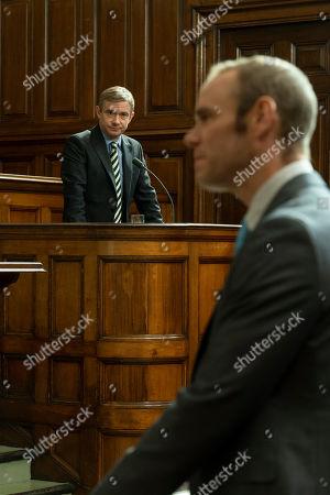 Martin Freeman as Steve Fulcher and Joe Absolom as Christopher Halliwell.