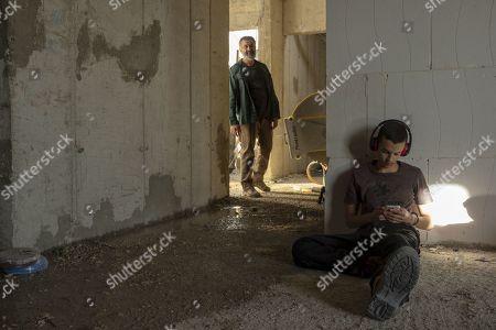 Stock Photo of Johnny Arbid as Hussein Abu Khdeir and Shadi Mar'i as Eyad