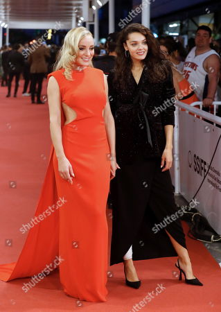 Stock Picture of Angela Cremonte and Ana Rujas (R) pose on the red carpet during the 67th San Sebastian International Film Festival (SSIFF), in San Sebastian, Spain, 20 September 2019. The festival runs from 20 to 28 September.