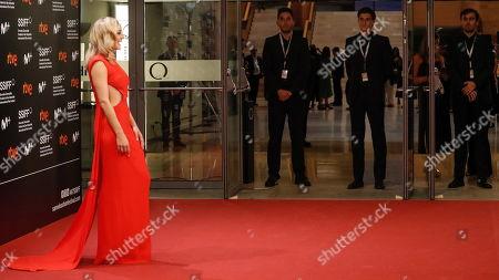 Angela Cremonte poses on the red carpet during the 67th San Sebastian International Film Festival (SSIFF), in San Sebastian, Spain, 20 September 2019. The festival runs from 20 to 28 September.