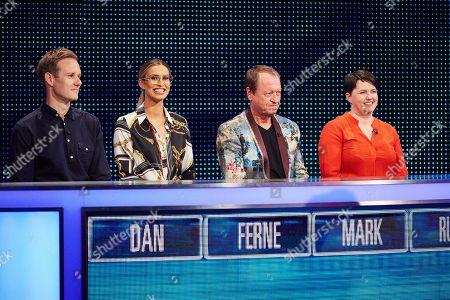(L-R) Dan Walker, Ferne McCann, Mark King and Ruth Davidson