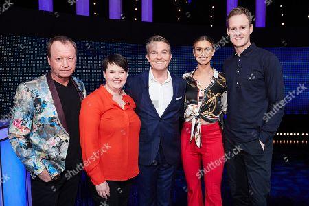 (L-R) Mark King, Ruth Davidson, host Bradley Walsh, Ferne McCann and Dan Walker