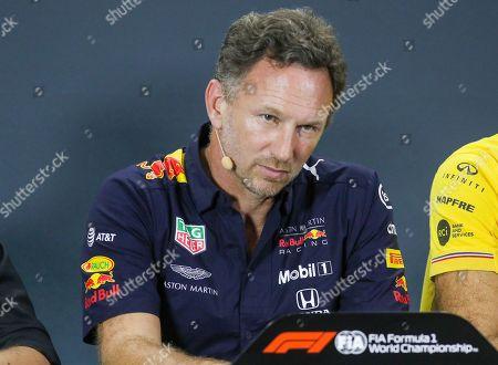 Team Principal - Christian Horner, Red Bull Racing at the press conference, during the Formula 1 Singapore Grand Prix 2019 at Marina Bay Street Circuit