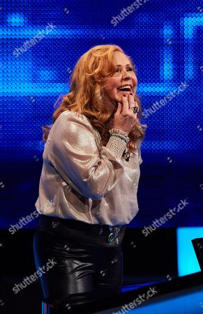 Stock Photo of Carol Decker facing The Chaser