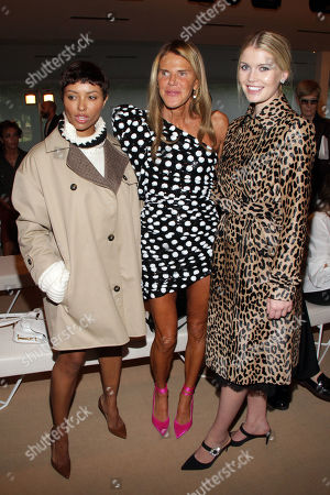Kat Graham, Anna Dello Russo and Lady Kitty Spencer in the front row